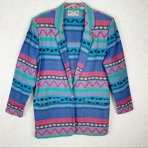 VTG Angelique colorful Aztec boho western jacket